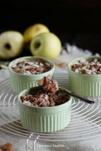crumble di mele in tazza